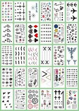 US Seller-10 sheets temporary tattoo tiny micro finger face ear wrist #49n50