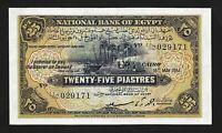 Egypt 25 Piastres 18 May 1951 , aAU , P-10e, SIGN SAAD