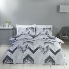 Rapport Palazzo Reversible Marble Effect Duvet Cover Bedding Set Grey