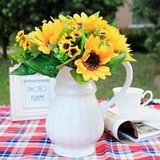Chic Cute Fake Sunflower Artificial Silk Flower Bouquet Wedding Home Decor