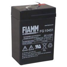 BATTERIA FIAMM FG10451 6V 4,5A PIOMBO GEL ERMETICA EMERGENZA RICARICABILE AGM