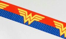 1M X 22mm Grosgrain Ribbon Craft DIY Cake Decoration Hair Bow - Wonder Woman