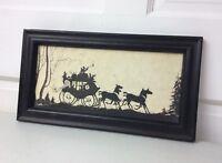 Silkscreen FOLK ART Framed Signed Canadian Artist