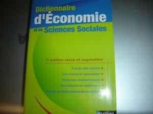 Dictionnaire d'économie et de sciences sociales Frank Bazureau Serge Bosc Jean