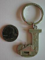 "San Francisco Initial Letter ""J"" Golden Gate Metal Keychain Key Ring Jake John"