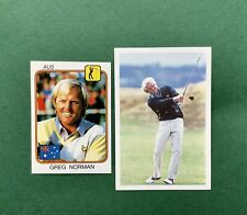 Greg Norman ROOKIE cards Panini Supersport 1987 and A Question Of Sport 1987