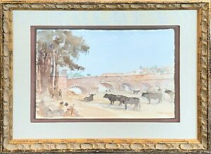 F Russell Flint Original Watercolor in Perfect Condition!