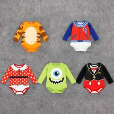 Baby Boy Girl Disney Animal Character Clothes Romper Jumpsuit Bodysuit Babygrows