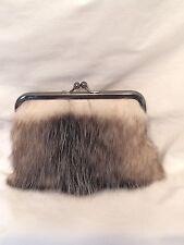 Genuine Opossum Fur Clutch Purse