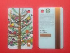 CS1765 2017 China Starbucks Coffee Mini Christmas Tree MSR Card mint 1pc
