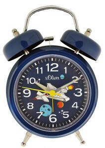 s.Oliver Wecker Kinderwecker SO-3962-CQ Alarm Kunststoff blau UVP:29,95€ NEU