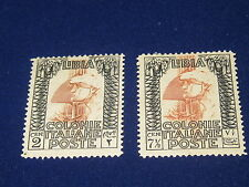 Libya, 2 & 7 1/2 Cent, Roman Legendary, 1922, MH.