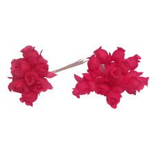144 solid color hot pink Poly Rose Silk Favor Flower Pick Wedding Shower