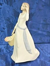 Retired Youthful Spirit Woman Girl Holding Flower Basket Nao By Lladro #1591
