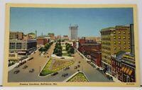 Baltimore Md Preston Gardens Maryland Postcard I2