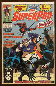 NFL Superpro #1 VF/NM 9.0 MARVEL COMICS 1991 SPIDER-MAN