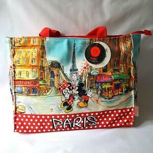 DISNEY sac shopping / plage en tissus ROBIN RUTH mickey minnie édition Paris