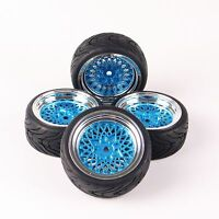 4pcs On-Road Racing Car Rubber Tyres Wheel F HSP HPI RC 1/10 12mm Hex