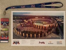 ATLANTA BRAVES 2017 OPENING DAY COMMEMORATIVE TICKET & 2016 TURNER FIELD POSTER