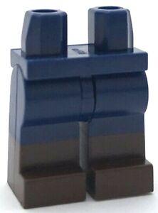 Lego Neuf Bleu Foncé Mini Figurine Jambes Marron Foncé Bottes Pantalon Pièces
