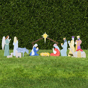 Outdoor Nativity Store Complete Outdoor Nativity Set (Standard, Color)