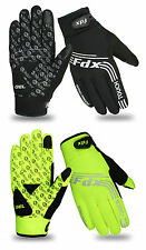 FDX Cycling Gloves Windproof Gel Padded Touchscreen  Full Finger Biking Gloves