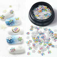 Christmas 3D Snowflake Sequins Nail Art Stickers Gold Glitter Metal Slices Decor