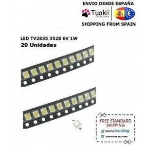 LED 20PCS TV LCD LG SMD 3528 2835 3030 3535 3 6V REPARACIÓN TV BACKLIGHT