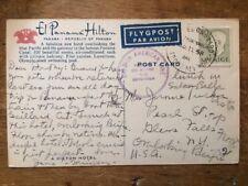 1958 PC SWEDISH AMERICAN LINE Boat Mailed M/S Kungsholm Goteborg-New York Panama