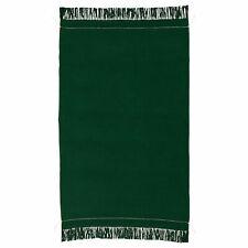 "Throw Blanket Handmade Soft Cotton Dark Green Bedding 43x67"" Ikea Botanisk Lmtd"