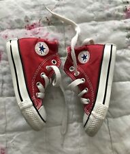 Converse All Star Red High Tops.trainers.sneakers.boots.infant Size 4