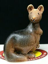 "Retired ARTESANIA RINCONADA Kangaroo w/ Joey #165, URUGUAY, 3 3/4"" Tall EPOC"
