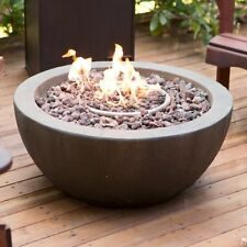 Outdoor Fire Pit Natural Gas Backyard Patio Deck Stone Fireplace With Cover