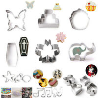 12 Design Stainless Steel Animal Cutter Biscuit Cookies Pastry Cake Fondant Mold