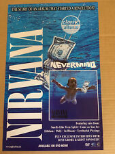 NIRVANA Rare 2004 PROMO POSTER of Classic Albums Nevermind DVD MINT DOUBLE SIDED