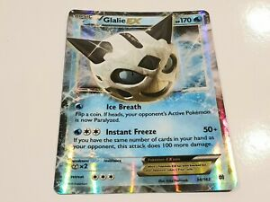 Genuine Pokemon Card Glalie EX Ultra Rare  34/162  Breakthrough Free Postage