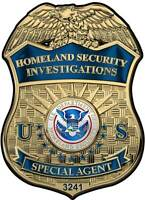 """Special Agent Badge All Metal Sign. 13 x 18""""  with Badge number"""