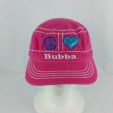 Bubba Gump Shrimp Co Peace Heart Glitter Pink Adustable Strapback Hat or Cap