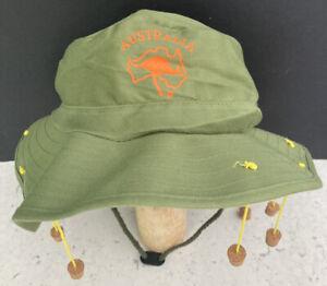 Adult Men Aussie Australian Corks Kangaroo Cap Hat Fancy Dress Costume Ozzie