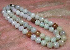 """10 mm  Certified Green Yellow Natural A JADE JADEITE Bead Beads Necklace 项链"""""""