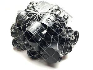 1-100 Unterputzdosen Schalterdosen schwarz Gerätedose 41mm flach D=60mm F-Tronic