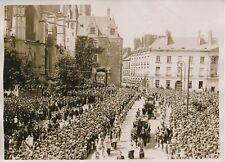 NANTES c. 1930 -Attelages Funéraires Obsèques Victimes du St Philibert - PRM 375