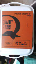 FORD SERVICE TRAINING MANUAL POWER STEERING 1968 LECTURERS NOTES CORTINA ZODIAC