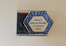 Spode Blue Room When I Count My Blessings 2006 Tray Candy Dish Mementos Blessing