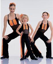 Hot Toddy Dance Costume Jumpsuit Unitard w/Hair Scrunchie Clearance Adult Medium