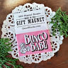 "DECO MAGNET 2""x3"" BUNCO BABE Fridge Magnet bunko party game Gift pink USA"
