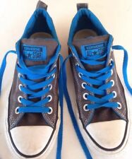 Converse Chuck Taylor Charcoal Gray W/ Blue Men's 5 Women's 7 Reduced