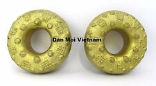 Pair of Hmong Finger Bell Rings: Fair Trade Percussive Tribal Ethnic Sound