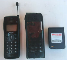 Vintage PHILIPS GSM FIZZ TCD312 MOBILE PHONE & CASE Nice Condition