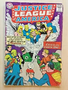 "Justice League of America #21 (1963) ""Crisis on Earth-One!"" 1st JSA crossover VG"